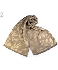 c2f47ee45a0 Šátek   šála s lurexem se vzorem listů 70x175 cm Stoklasa