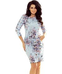 Šaty dámské Numoco 13 93 blue stripes + flowers a7c499bd2d