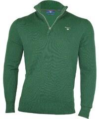 ac666d2d89f9 Gant Pánský zelený svetr Gant se zipem 9633