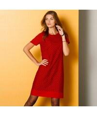 Blancheporte Šaty s krátkymi rukávmi červená čierna cdc95eb869