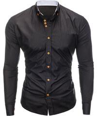 faf5f3c814c Ombre Clothing Pánská košile slim fit Jude černá