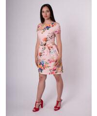 f4d5e4fd66d1 STATION Ružové kvetované šaty s vreckami
