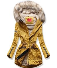 MODOVO Dámska zimná bunda s kapucňou PO-305 camel d72ded6370b