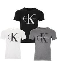 Pánská trička Calvin Klein 3 pack - bílá   černá   šedá e6e6e9bb22