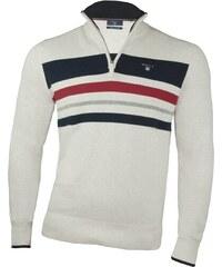 Gant Pánský béžový svetr Gant se zipem 9639 54112c51aa