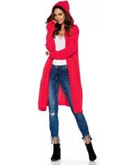 a9de3034720 Dámský pletený kabátek Lemoniade LS213 malinový