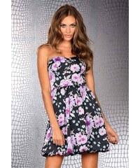 Bruno Banani značkové korzetové saténové šaty 42 lila