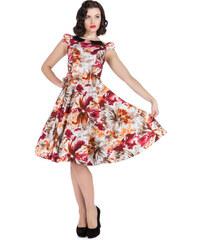 3fb7ca940366 Dedoles Retro pin up šaty Farebné kvety 2XL