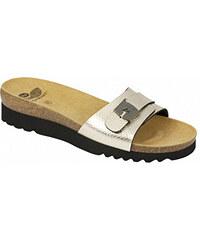Scholl Dámské pantofle Ginni Bioprint Platinum F270381075 bce3d67574