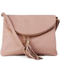 25769538947 ITALSKÉ Malé italské levné kožené kabelky korzika jemně růžové