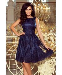 462073b91d84 NUMOCO Modré šaty s čipkou 173-3