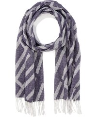 b221d2f07bfd Hackett London H GEO Scarf, Echarpe Homme, Navy Grey, Taille Unique