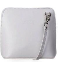 TALIANSKE Talianska malé kožené kabelky crossbody biele Milana faa73752f85