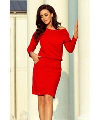 NUMOCO Dámské šaty Sporty červené 4c71abae6f
