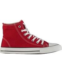 boty Lee Cooper Canvas Hi Top Shoes pánské Red a581f3f67a