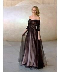 459368b8f43 Marizu fashion zajímavé černé tylové plesové maturitní šaty podšité růžovým  saténem