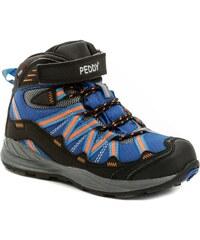 f6311bda1cc Peddy PZ-509-27-03 modro oranžové kotníčkové zimní boty