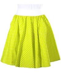 7bc654ad3c1 Afrodit Dámská kolová sukně Fresh zelená