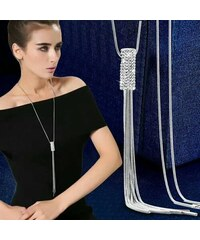 48026d590 B-TOP Dámsky dlhý náhrdelník S KAMIENKY - strieborná