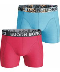 Björn Borg Férfi kék-fukszia boxeralsó Seasonal Solids Sammy Shorts - Kettős  csomagolás c49b3e5276