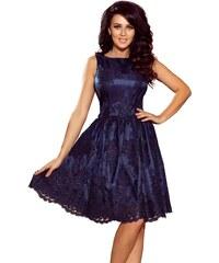 Tmavě modré večerní šaty bez rukávů - Glami.cz ff9b7fae93