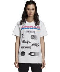 Dámske tričko adidas Originals JUL GRAPHIC TEE (Biela) 79d2b601edb