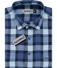 63e960287075 Flanelová košile AMJ Greed