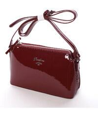 a18ea50890 Luxusní dámská lakovaná crossbody kabelka s glitterem vínová - David Jones  Petrina vínová