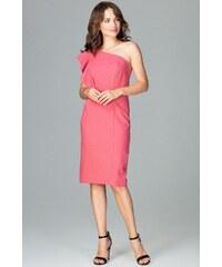 41f9296babc8 Růžové elegantní šaty s volány - Glami.cz