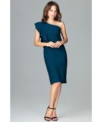 bb4a361bc83 Koktejlové šaty Lenitif K488 modré