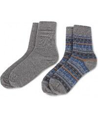Sada 2 párů vysokých ponožek unisex BUGATTI - 6868 J Anthra 620 1652477f45