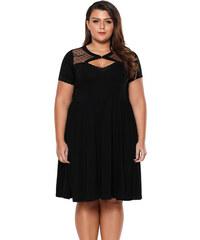 4af8182a71 ZAZZA Čierne šaty nad kolená s krátkym rukávom