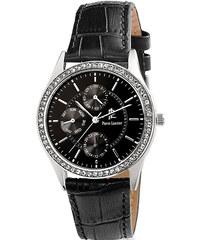 Pozlacené hodinky v růžovozlaté barvě s koženým páskem Pilgrim ... 4e70c6d932