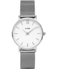 Cluse Minuit Mesh Silver White CL30009 32874b2536