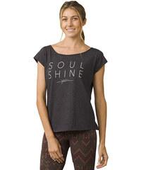 Prana Dámske tričko Longline Tee Charcoal Heather cd6d2f40630