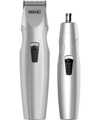 Wahl Sada pre mužov - Batériový zastrihávač fúzov + Zastrihávač chĺpkov  nosa a uší 5606- 07c7d78b0f0