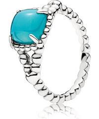 Pandora Stříbrný prsten s tyrkysovým kamenem 197188NSC f506a90d5e4