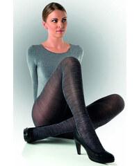 57a5ab16dd2 Evona Dámské punčochové kalhoty s modro-černým melírem Felicie 006