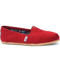 e92432007df TOMS Dámské Slip-On Red Canvas Core Classics Alpargatas