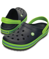 Crocs Dětské pantofle Crocband Clog Navy Volt Green 204537-4K6 24288a55ca