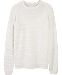 BASIC Bílý pánský teplý svetr s ozdobnými přezkami (wx0969) - Glami.cz 0511056567