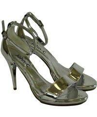 52c796eeefa9 JOHN-C Dámske strieborné sandále ROSARIA 35