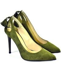 35973a877cd4 Zelené Dámske topánky na podpätku z obchodu John-C.sk
