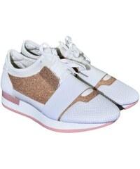 12f74696d445 COMER Dámske bielo-ružové botasky BRIEN 36