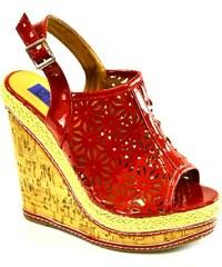 980b294a2951 JENIKA Dámske červené sandále ALCA 36