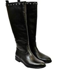 KARINO Dámske čierne kožené čižmy AVERY 36 bdb518f92d3