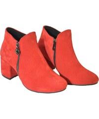 Červené Dámske čižmy a členkové topánky z obchodu John-C.sk  ad980acaf90