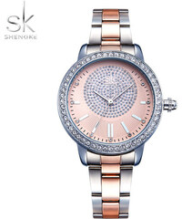 SK Shengke hodinky Luxury Rose Gold K0075 L01 SILVER 669fdfb29c