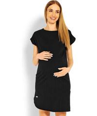 7a12cb97e016 Peekaboo Čierne asymetrické tehotenské šaty PKB1629C
