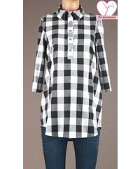Branco Čierno-biela kKockovaná tehotenská košeľa 3562 f7b1d5e71f